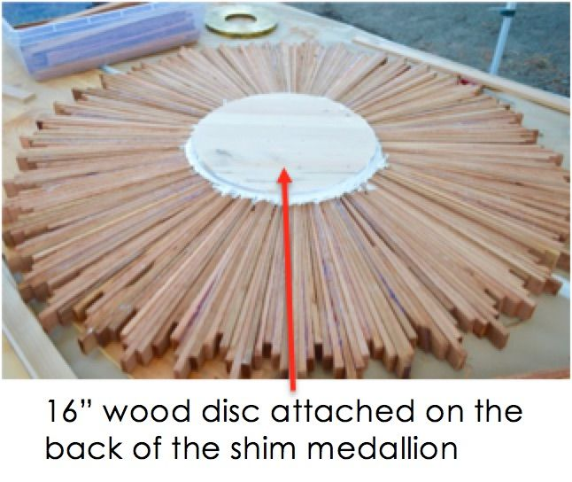 This Project Bundles Wood Shims In A 3 Circle To Make Rustic Ceiling Medallion