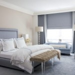 Slate Blue and White Bedroom