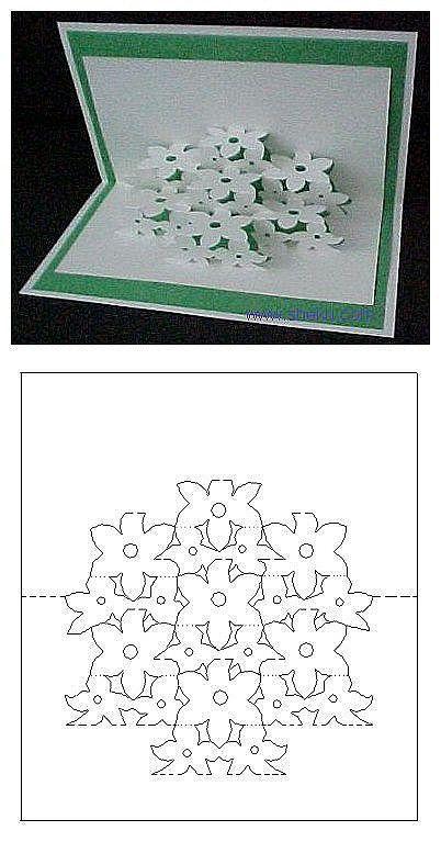 手工DIY 折纸 纸艺 剪纸 【立体卡片】花