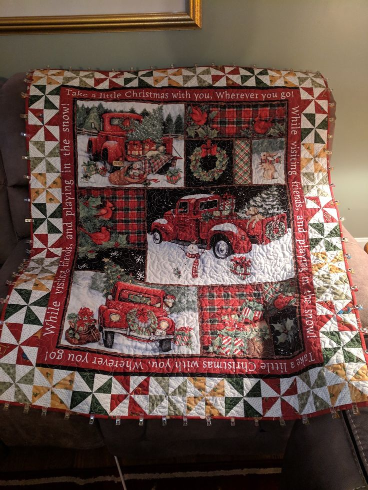 Christmas Panel Quilt Christmas Quilts Christmas Quilt