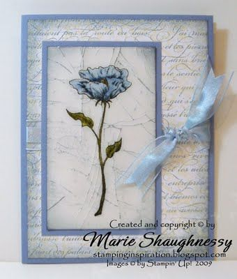Marie Shaughnessy cracked glass: Stampinup, Su Cards, Stampin Up, Beautiful Card, Card Making, Card Ideas