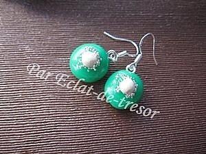 Boucles d'oreilles Argent 925 Vert translucide