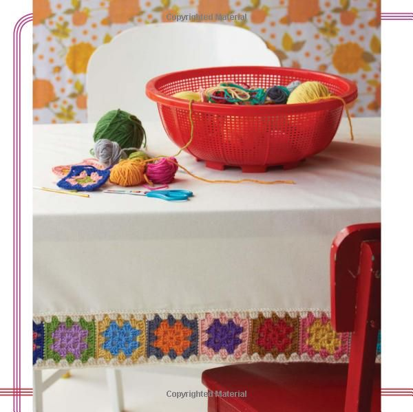 Granny Square Love: Great Tablecloth idea