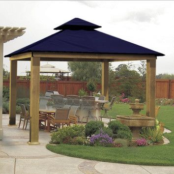 You'll love the ACACIA 14 Ft. W x 14 Ft. D Metal Permanent Gazebo at Wayfair - Great Deals on all Outdoor  products with Free Shipping on most stuff, even the big stuff.