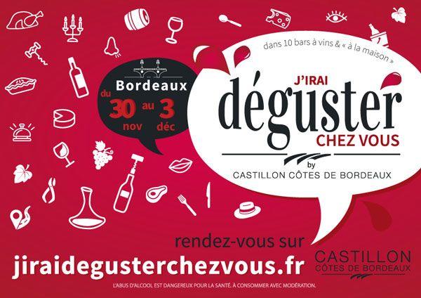 """""""J'irai déguster chez vous"""" Bordeaux #vin #gastronomie #Bordeaux"""