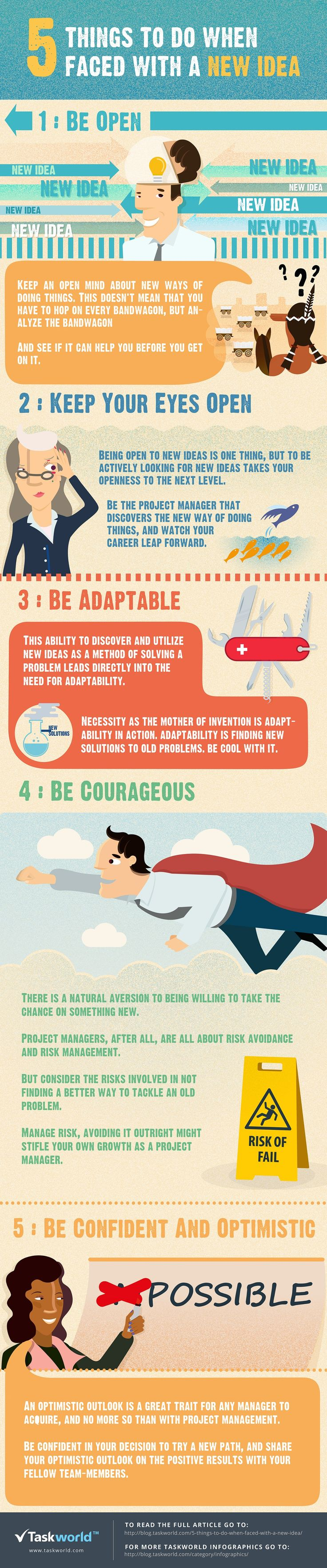 5 Things to do When Faced With a New Idea #infographic