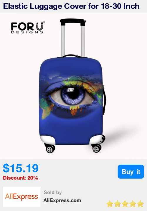 Elastic Luggage Cover for 18-30 Inch Trolley Suitcase Waterproof Luggage Protective Covers Zip Big Eyes Travel Rain Cover * Pub Date: 17:58 Apr 6 2017