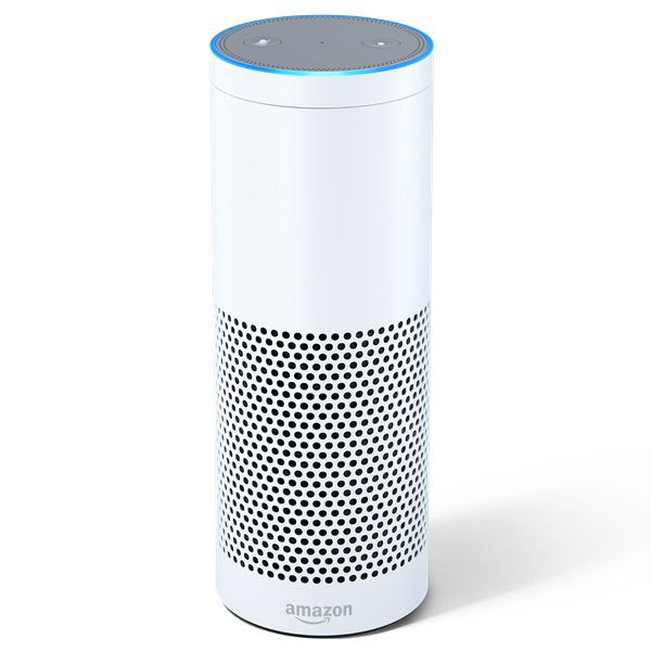 Amazon Echo is designed around your voice. It's hands-free and always on. With seven microphones and beam-forming technology, Echo can hear you from across the room - even while music is playing. Echo is also an expertly tuned speaker that can fill any room with immersive sound. Echo connects to Alexa, a cloud-based voice service, to provide information, answer questions, play music, read the news, check sports scores or the weather, and more - instantly. Color: White