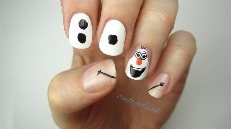 Disney Frozen Nail Art: OLAF! https://www.youtube.com/watch?v=fZAfP9cSzqU