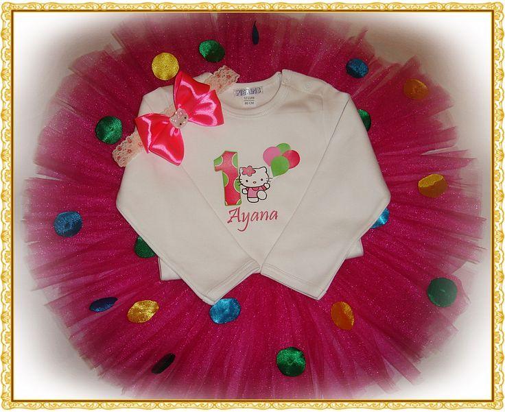 Set tutu personalizat 'Hello Kitty' (90 LEI la cardenn.breslo.ro)