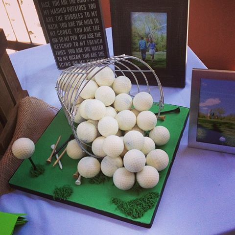 Golf Ball 'cake pop' balls