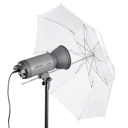 Walimex Pro - Mini paraguas transparente (91 cm, plegable, tamaño de transporte de 40 cm), blanco - http://comprarparaguas.com/baratos/plegables/walimex-pro-mini-paraguas-transparente-91-cm-plegable-tamano-de-transporte-de-40-cm-blanco/