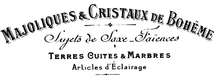 French Sign - Transfer onto Wood - Printable - The Graphics Fairy