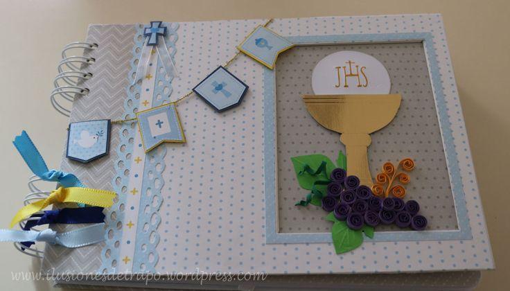 álbum y libro de firmas primera comunión  scrapbooking.  www.ilusionesdetrapo.wordpress.com