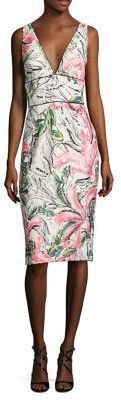 Kay Unger Sleeveless Floral Cocktail Dress