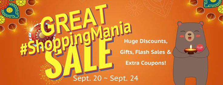 Biggest shopping festival of the year. Don't miss out! Mark your calendars and make a date with us!