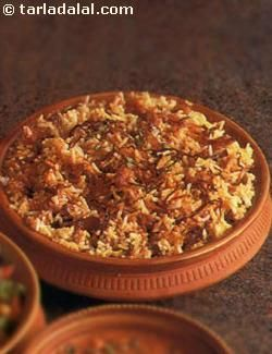 Here is something special - Biryani without meat, delicately flavoured with saffron and spices.