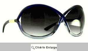 Whitney Oversized Criss Cross Sunglasses - 317 Purple