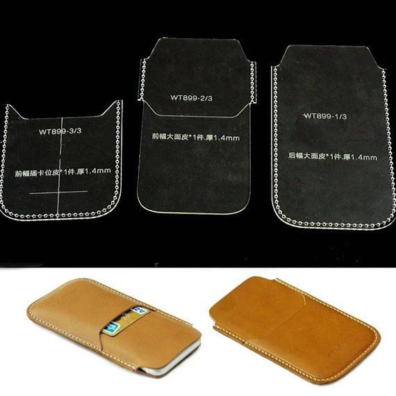 Phone Cases Acrylic Leather Templates Pattern For Iphone 6 Card Holder Hobby C1024 Leather Wallet Pattern Leather Craft Patterns Leather Bag Pattern