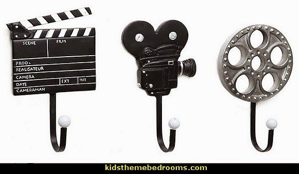 movie-themed Decorative Movie Design Metal Wall Mounted Storage Hooks