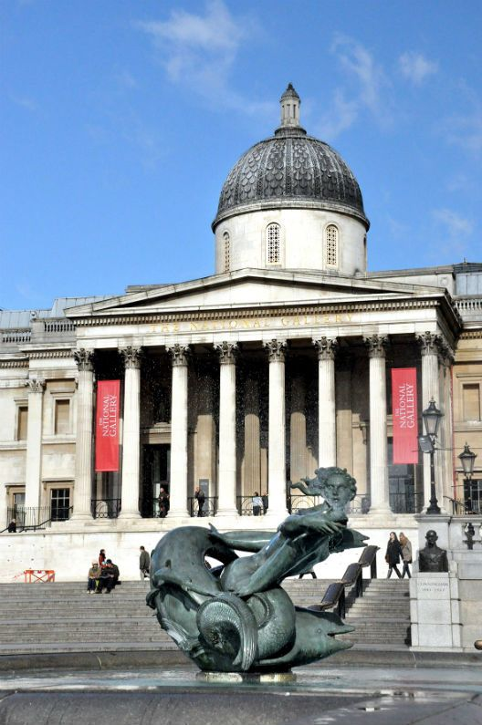 The National Gallery, Trafalgar Square, London, not only boasts some of the most famous paintings in the world but entrance is completely free