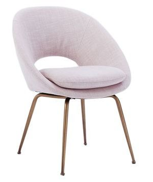 With four upholstery options, this stationary seat would add elegant appeal to any office space. Choose a pop of pattern to wake up the brain or opt for rose-colored linen for a more glamorous effect.