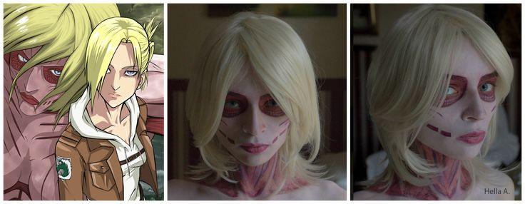 Annie's Makeup; FaceBook page : http://tiny.pl/gmn5p  Instagram -> @hella_a_oficiall #annie #snk #shingekinokyojin #attacontitan #attac #titan #shingeki #kyojin #makeup #cosplay #characterization #facepaint #art
