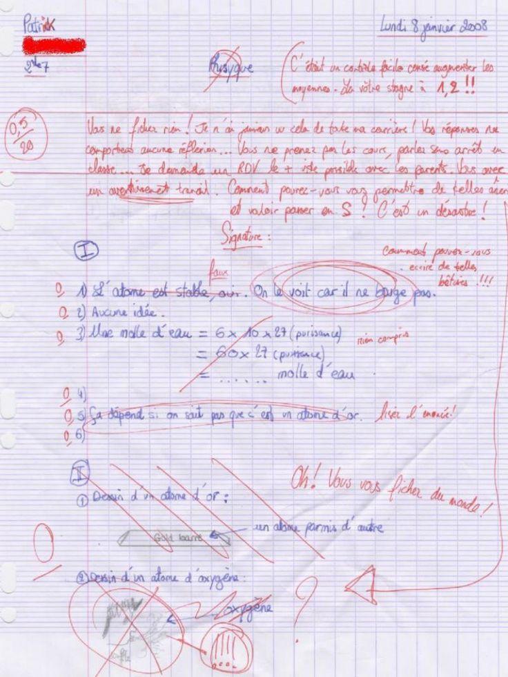 les-atomes - 21 copies d'élèves parmi les plus drôles (pin.by.@ChansLau)