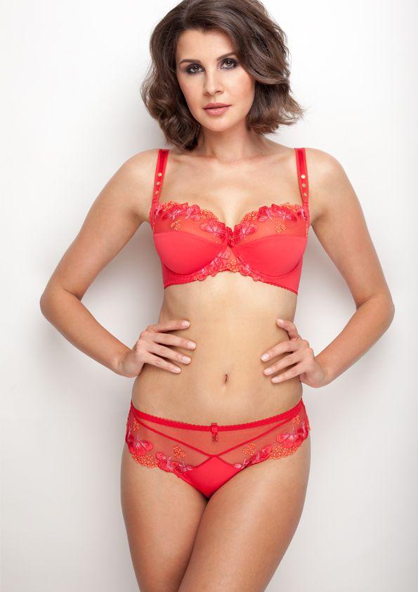 Samanta lingerie - New collection Goshenit crimson bra: A211 pants: B300 www.samanta.eu