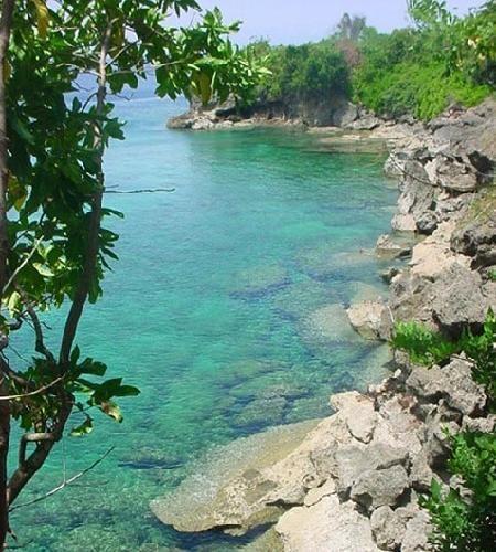 view of Pintu Kota Beach in Airlouw Village , Ambon-Mollucass... Indonesia