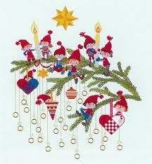 Billedresultat for julekalender broderi advent