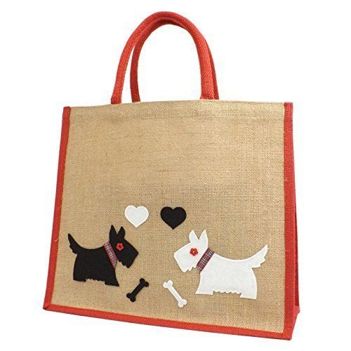Yellowboots Jute Hessian Red Trim Large Shopping Bag - Scottie / Westie Dogs in Love Yellowboots http://www.amazon.co.uk/dp/B00UANV1IC/ref=cm_sw_r_pi_dp_UJuLwb1BTR9XD