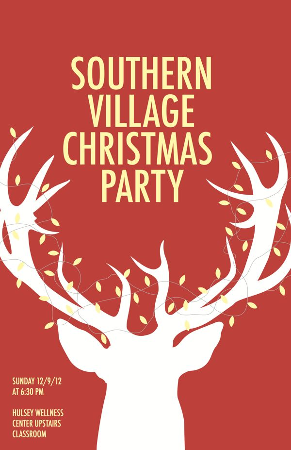 Christmas Party Poster by Lance Matthews, via Behance