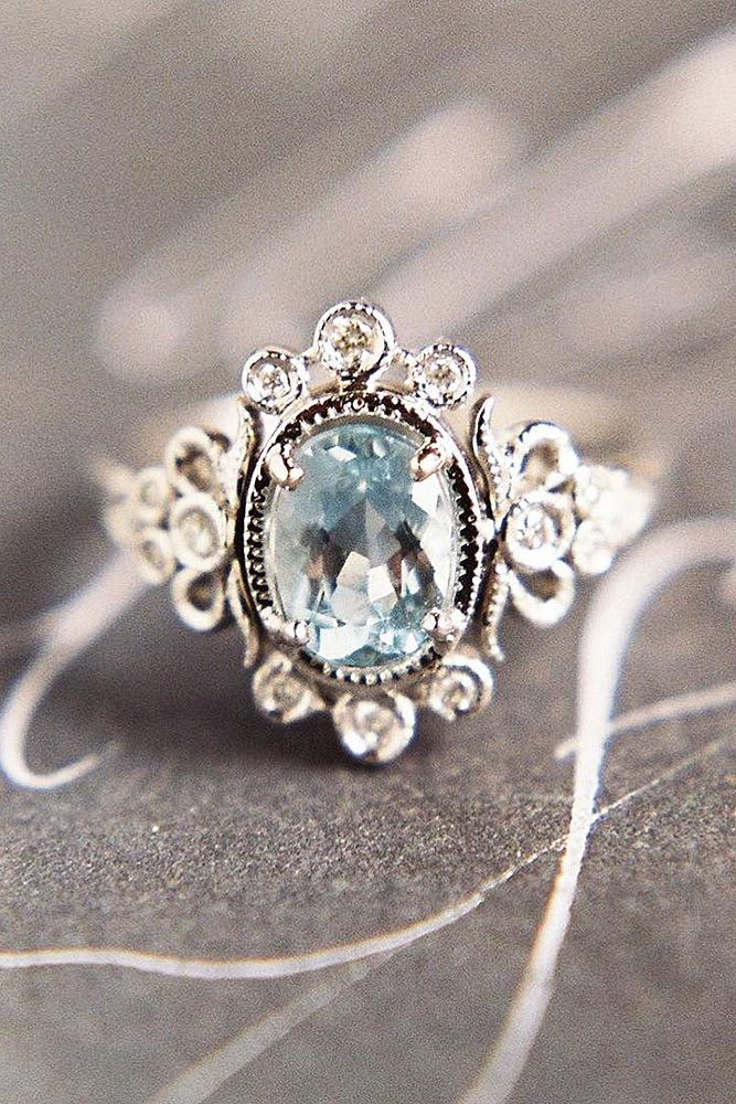 Insanely Good Colored Engagement Rings ❤ See more: http://www.weddingforward.com/colored-engagement-rings/ #weddings