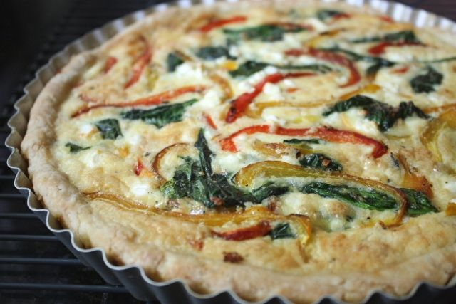 Mini Baked Frittata With Feta, Spinach, Roasted Red Pepper, And Dill ...