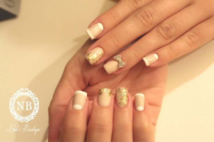 #cream#white#nails#nailboutique