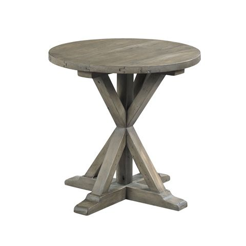 Hammary Furniture - Trestle Round End Table - 523-918  Could this be made with curves instead of straight X