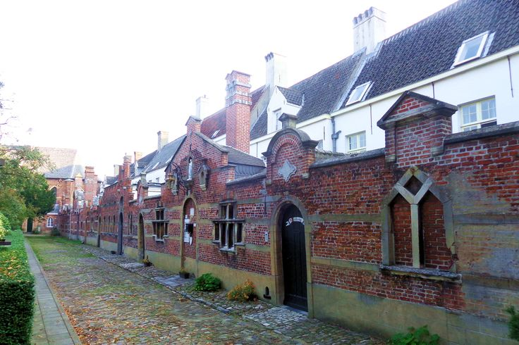 De begijnen vestigden zich in 1245 in een complex buiten de stadsmuren. Het werd in 1542 door de Antwerpenaren zelf in de as gelegd om te voorkomen dat Maarten van Rossum zich in de gebouwen zou verschansen. De begijnen trokken toen naar een veiliger oord binnen de stadsmuren en vestigden zich in een nieuw Begijnhof bij de Ossenmarkt. Een kleine poort waarop de heilige Begga de wacht houdt, geeft toegang tot het verstilde hofje. De begijnen leefden hier tot ver in de 20e eeuw.
