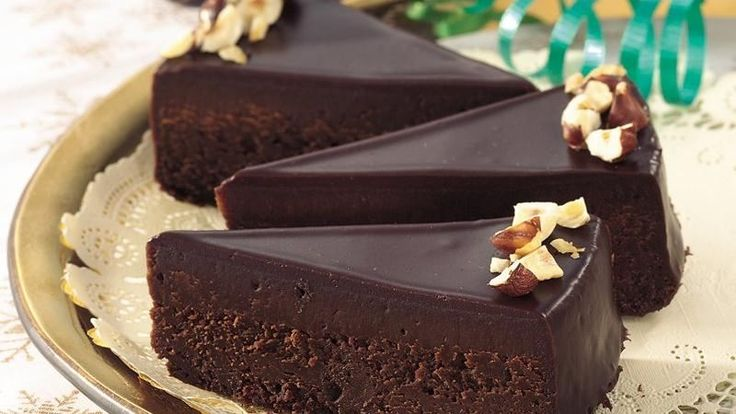 If you think chocolate is the perfect food, this cake is for you--sultry and rich, with semisweet frosting and just a touch of hazelnuts.
