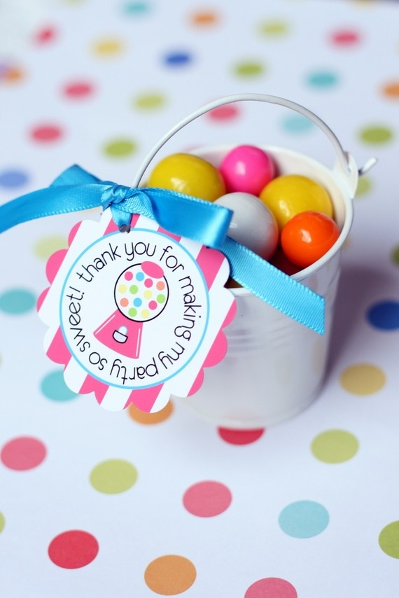 PRINTABLE FAVOR TAGS  Bubble Gum Birthday Party by tomkatstudio, $5.50