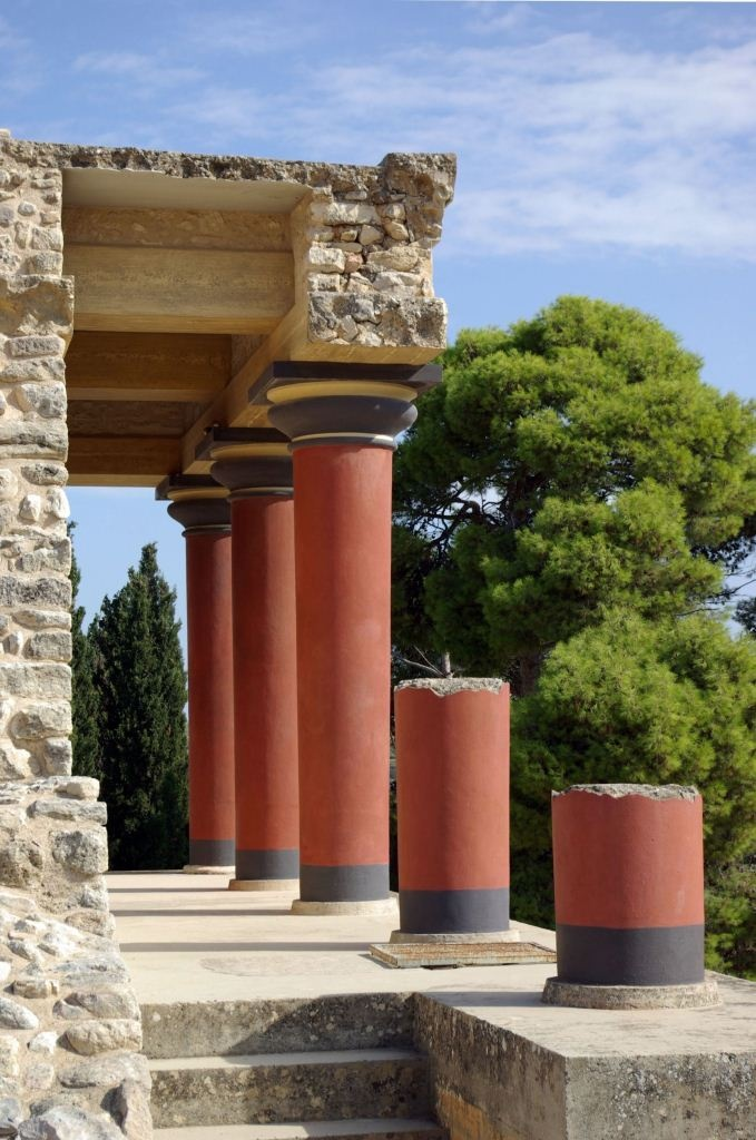 The Palace of Minos in Knossos