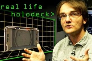 Check this out: A real life holodeck, created by the scientists at the Max-Planck-Institut in Germany. Almost Star Trek.