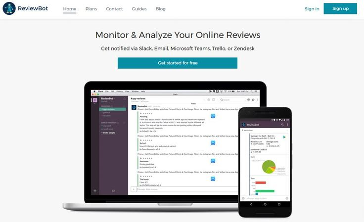 Monitor Google Play, App Store, Yelp, Amazon, and Podcast reviews. Get alerts for new ratings in email, Slack, Microsoft Teams, Trello or Zendesk. https://reviewbot.io