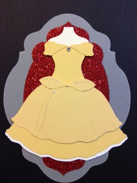 Punch Out Belle Dress #DIY #Disney #BeautyAndTheBeast