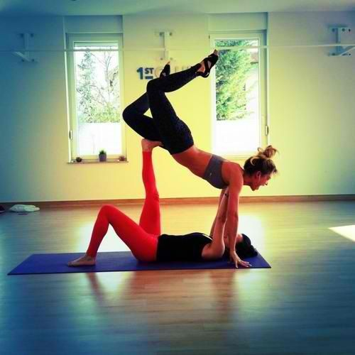 Another Yoga Position ... Need Two People ... Yoga With ...