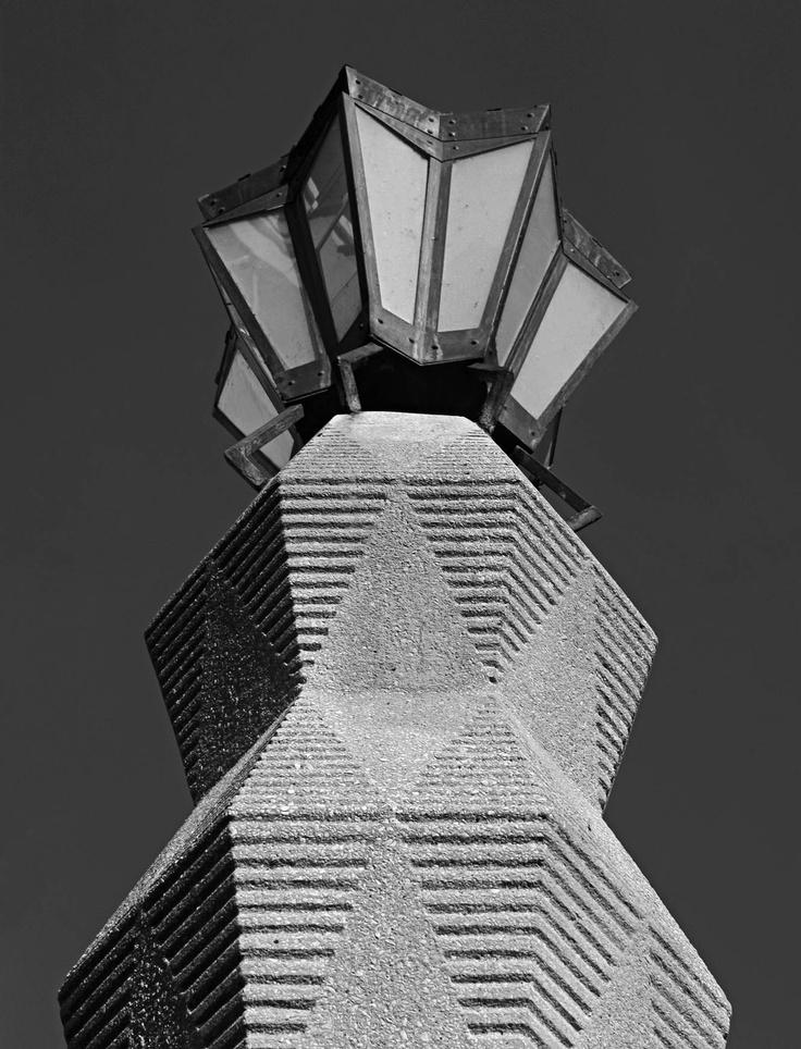 Cubism Streetlamp in Prague designed by Emil Králíček 1912-1913