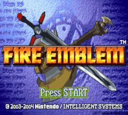 """nintendroid:  """"Fire Emblem for the Game Boy Advance.  """""""