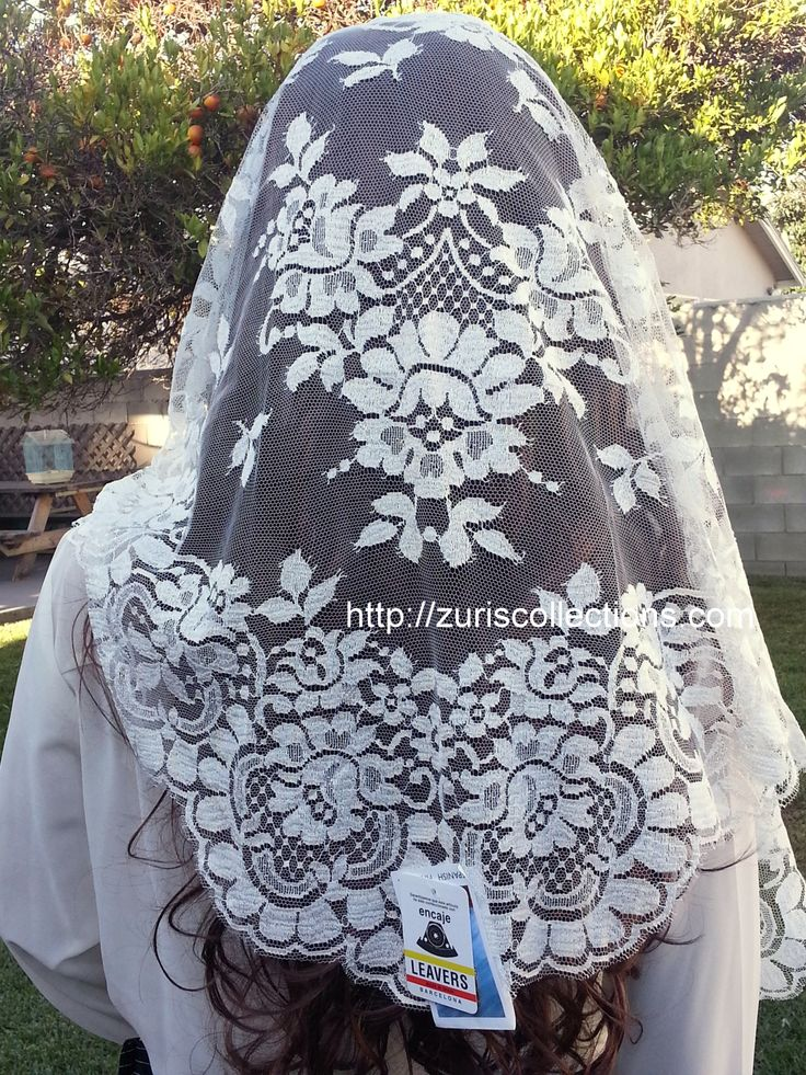 Spanish Mantilla / Chalina Espanola  Color Amber which is an off white shade  Design Flower by Leavers buy it at http://zuriscollections.com