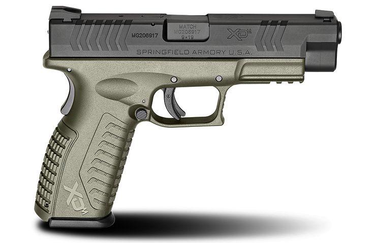 XD(M)® 4.5″ Full Size 9mm caliber #pistol in OD Green from Springfield Armory® #firearm #handgun