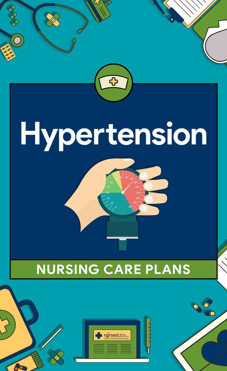 6 Hypertension Nursing Care Plans  Adherence to therapeutic regimen, lifestyle modifications, and prevention of complications are the focus of the nursing care for patient with hypertension.  Here are six (6) hypertension nursing care plans:   Risk for Decreased Cardiac Output Activity Intolerance Acute Pain Ineffective Coping Imbalanced Nutrition: More Than Body Requirements Deficient Knowledge Other Nursing Care Plans See Also and Further Reading